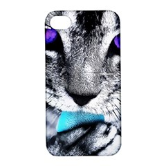 Purple Eyes Cat Apple Iphone 4/4s Hardshell Case With Stand by augustinet