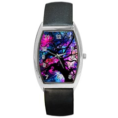 Star Field Tree Barrel Style Metal Watch by augustinet