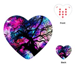 Star Field Tree Playing Cards (heart)  by augustinet