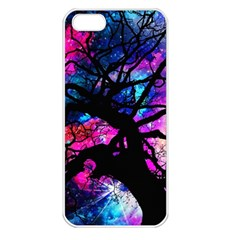 Star Field Tree Apple Iphone 5 Seamless Case (white) by augustinet