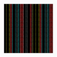 Multicolored Dark Stripes Pattern Medium Glasses Cloth by dflcprints