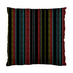 Multicolored Dark Stripes Pattern Standard Cushion Case (one Side) by dflcprints