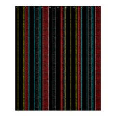 Multicolored Dark Stripes Pattern Shower Curtain 60  X 72  (medium)  by dflcprints