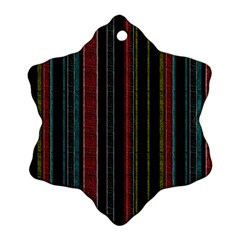 Multicolored Dark Stripes Pattern Ornament (snowflake) by dflcprints