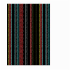 Multicolored Dark Stripes Pattern Large Garden Flag (two Sides)