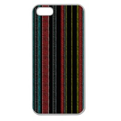 Multicolored Dark Stripes Pattern Apple Seamless Iphone 5 Case (clear) by dflcprints