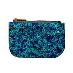 Teal Leafs Mini Coin Purses by augustinet