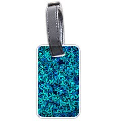 Teal Leafs Luggage Tags (one Side)  by augustinet