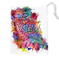 Rainbow Owl Drawstring Pouches (xxl) by augustinet