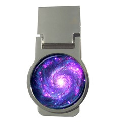 Ultra Violet Whirlpool Galaxy Money Clips (round)  by augustinet