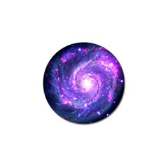 Ultra Violet Whirlpool Galaxy Golf Ball Marker (4 Pack) by augustinet