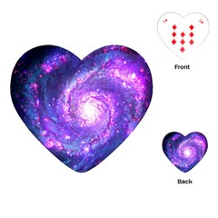 Ultra Violet Whirlpool Galaxy Playing Cards (heart)  by augustinet
