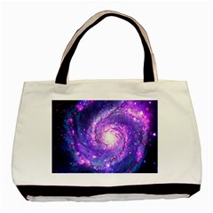 Ultra Violet Whirlpool Galaxy Basic Tote Bag by augustinet