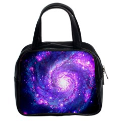Ultra Violet Whirlpool Galaxy Classic Handbags (2 Sides) by augustinet