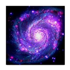 Ultra Violet Whirlpool Galaxy Face Towel by augustinet