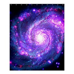 Ultra Violet Whirlpool Galaxy Shower Curtain 60  X 72  (medium)  by augustinet