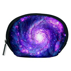 Ultra Violet Whirlpool Galaxy Accessory Pouches (medium)  by augustinet