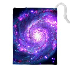 Ultra Violet Whirlpool Galaxy Drawstring Pouches (xxl) by augustinet
