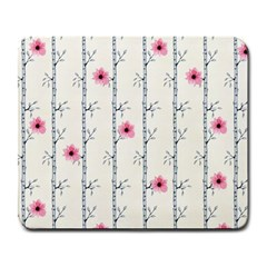 Minimalist Floral Large Mousepads by augustinet