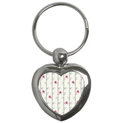 Minimalist Floral Key Chains (heart)  by augustinet