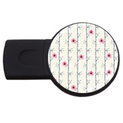 Minimalist Floral Usb Flash Drive Round (2 Gb) by augustinet