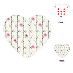 Minimalist Floral Playing Cards (heart)  by augustinet
