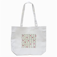 Minimalist Floral Tote Bag (white) by augustinet
