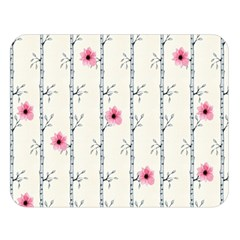 Minimalist Floral Double Sided Flano Blanket (large)  by augustinet