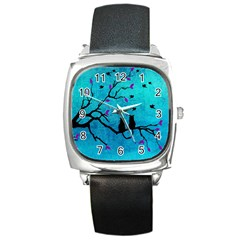 Lovecats Square Metal Watch by augustinet