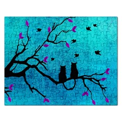 Lovecats Rectangular Jigsaw Puzzl by augustinet