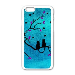 Lovecats Apple Iphone 6/6s White Enamel Case by augustinet