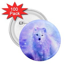 Arctic Iceland Fox 2 25  Buttons (100 Pack)  by augustinet