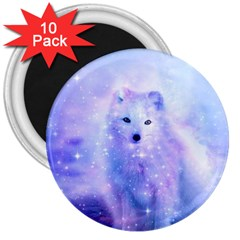 Arctic Iceland Fox 3  Magnets (10 Pack)  by augustinet