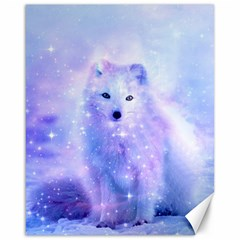 Arctic Iceland Fox Canvas 16  X 20   by augustinet