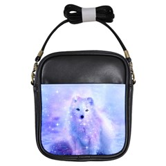 Arctic Iceland Fox Girls Sling Bags by augustinet