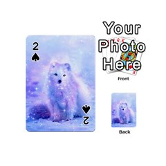 Arctic Iceland Fox Playing Cards 54 (mini)  by augustinet