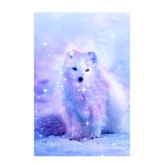 Arctic Iceland Fox Shower Curtain 48  X 72  (small)  by augustinet