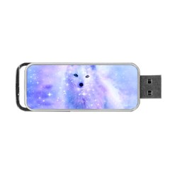 Arctic Iceland Fox Portable Usb Flash (one Side) by augustinet