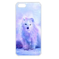 Arctic Iceland Fox Apple Iphone 5 Seamless Case (white) by augustinet