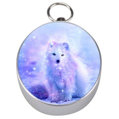 Arctic Iceland Fox Silver Compasses by augustinet
