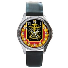 Logo Of Imperial Iranian Ministry Of War Round Metal Watch by abbeyz71