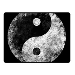 Grunge Yin Yang Fleece Blanket (small) by Valentinaart