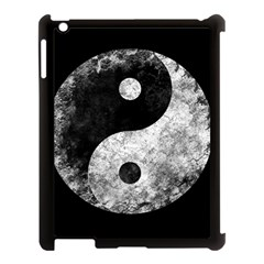 Grunge Yin Yang Apple Ipad 3/4 Case (black) by Valentinaart
