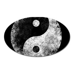 Grunge Yin Yang Oval Magnet by Valentinaart