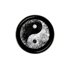 Grunge Yin Yang Hat Clip Ball Marker by Valentinaart