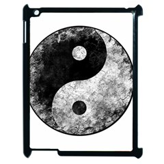 Grunge Yin Yang Apple Ipad 2 Case (black) by Valentinaart