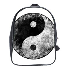 Grunge Yin Yang School Bag (xl) by Valentinaart