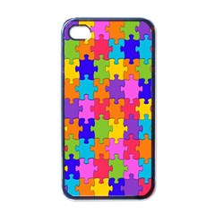 Colorful 10 Apple Iphone 4 Case (black)