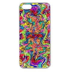 Colorful 12 Apple Seamless Iphone 5 Case (clear)