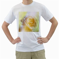Beautiful Yellow Rose Men s T Shirt (white) (two Sided) by FantasyWorld7